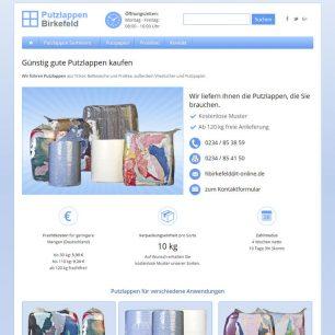 Website für Putzlappen Birkefeld