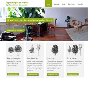 Website für die psychologische Praxis von Mathias Bretschneider