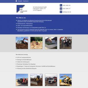Webdesign für GS Abbruchtechnik