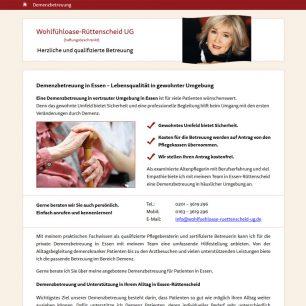 Webdesign für Wohlfühloase Rüttenscheid UG