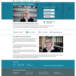 Website für Rechtsanwalt in Essen