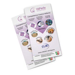 Flyer für HiPerIn – Biotechnologie