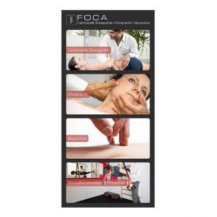 Flyer für FOCA – Funktionelle Osteopathie | Chiropraktik | Akupunktur