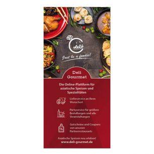 Flyer für Deli Gourmet