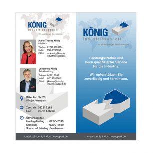 Flyer für Industrieservice König