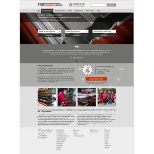Webdesign und Suchmaschinenoptimierung für TOP Trapezbleche GmbH